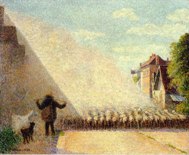 Отара овец (1888). Камиль Писсарро