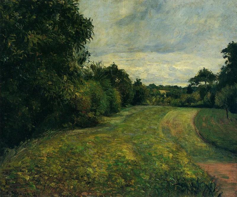 Le Fond de St. Antoine, Pontoise. (1876). Camille Pissarro