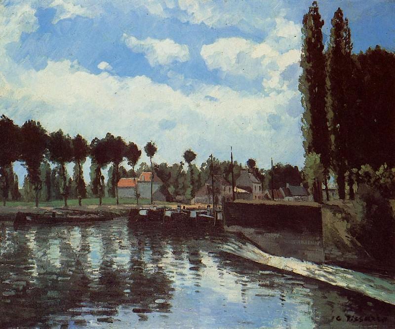Шлюз в Понтуазе (1869). Камиль Писсарро