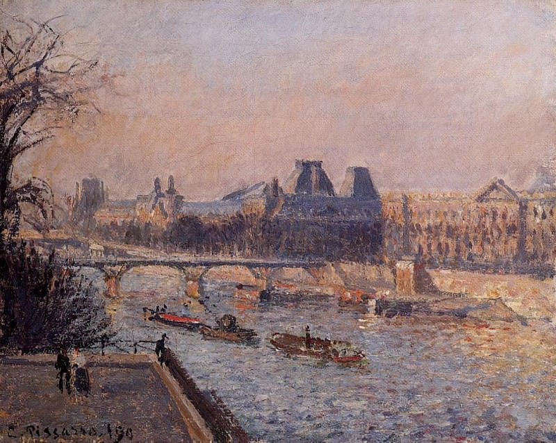 The Louvre, Afternoon. (1902). Camille Pissarro