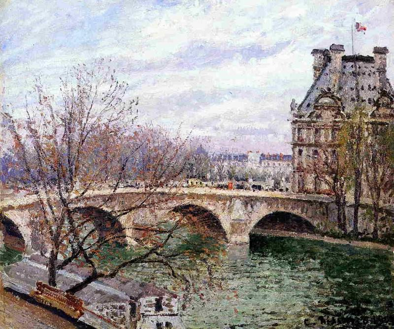 The Pont Royal and the Pavillion de Flore. Camille Pissarro