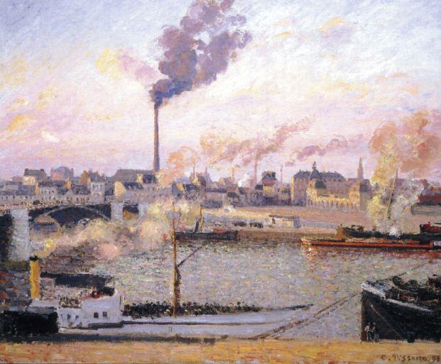 Сен Север, Руан, пять часов утра (1898). Камиль Писсарро