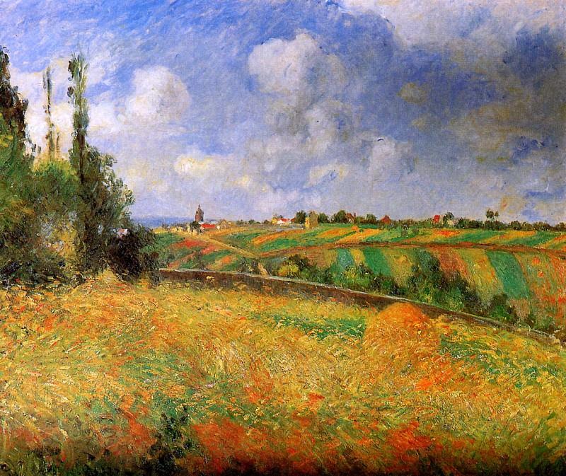 Les seigles Pontoise. Camille Pissarro