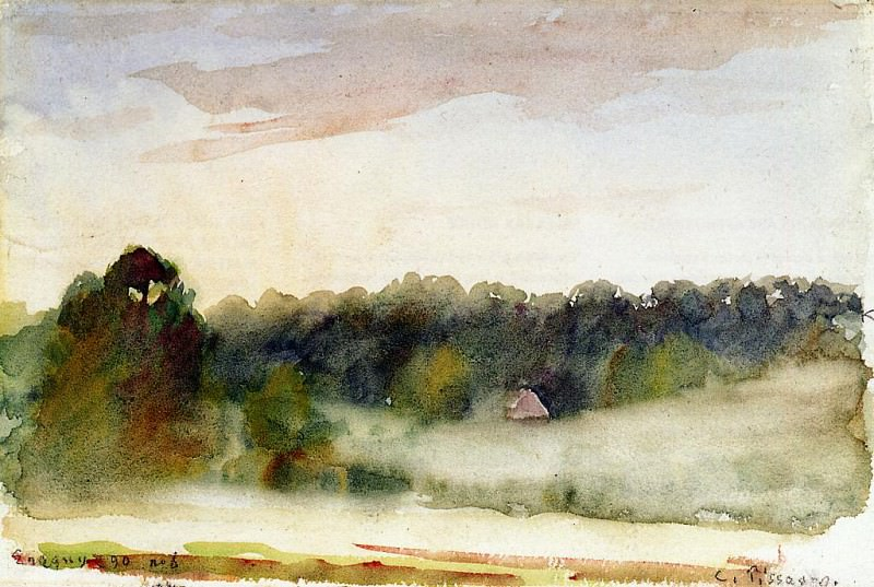 Пейзаж у Эраньи (1890). Камиль Писсарро