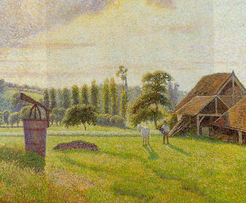 Brickworks at Eragny. (1888). Camille Pissarro