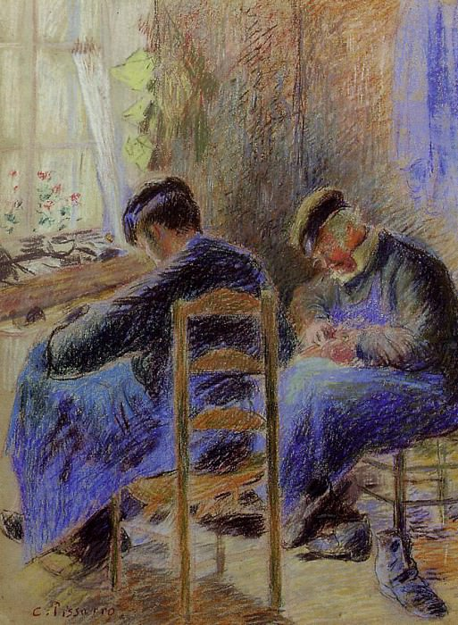 Shoemakers. (1878). Camille Pissarro