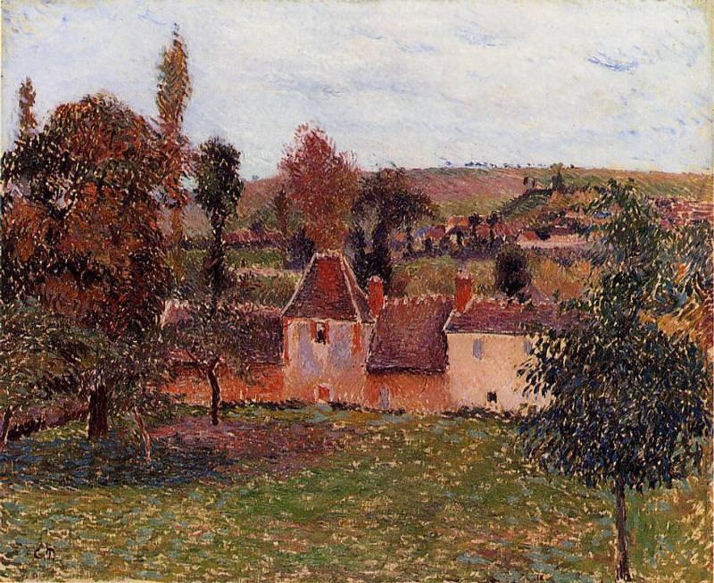 Farm at Basincourt. (1884). Camille Pissarro