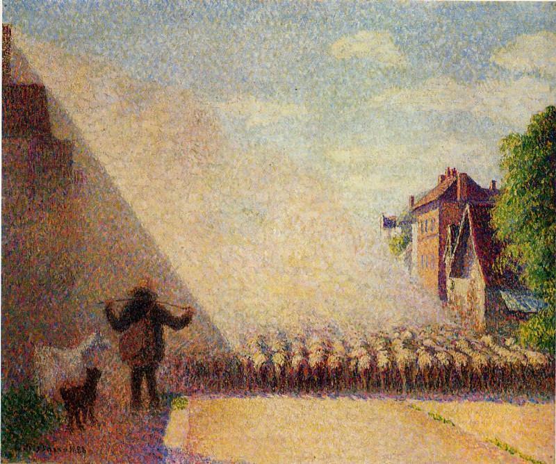 Отара овец 1888. Камиль Писсарро