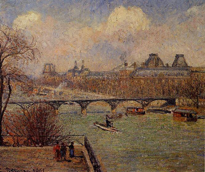 View of the Seine from the Raised Terrace of the Pont-Neuf. (1901). Camille Pissarro