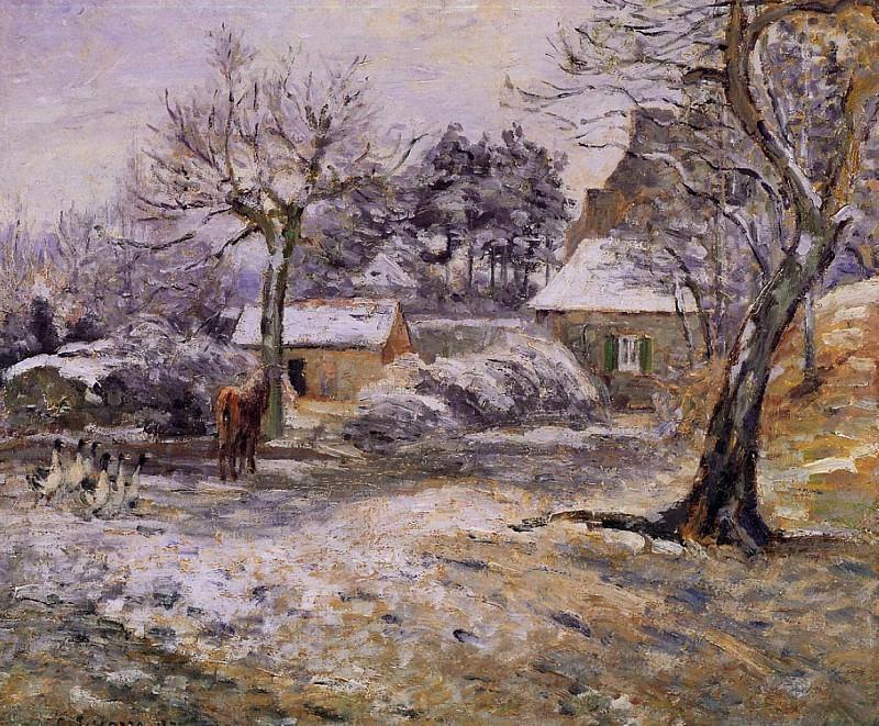 Снег в Монфуко (1874). Камиль Писсарро
