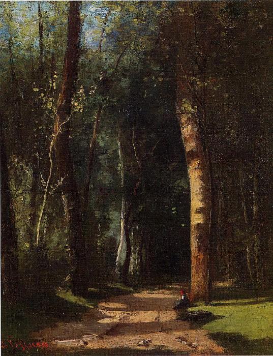 В лесах (1859). Камиль Писсарро