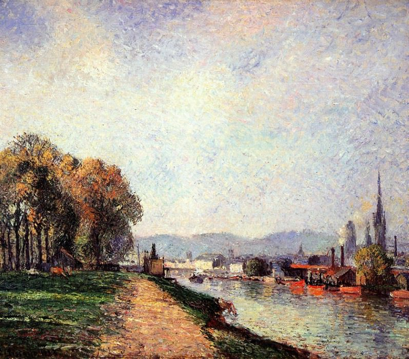 View of Rouen. (1883). Camille Pissarro