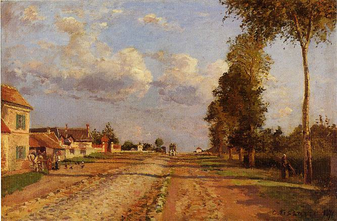 Road to Racquencourt. (1871). Camille Pissarro