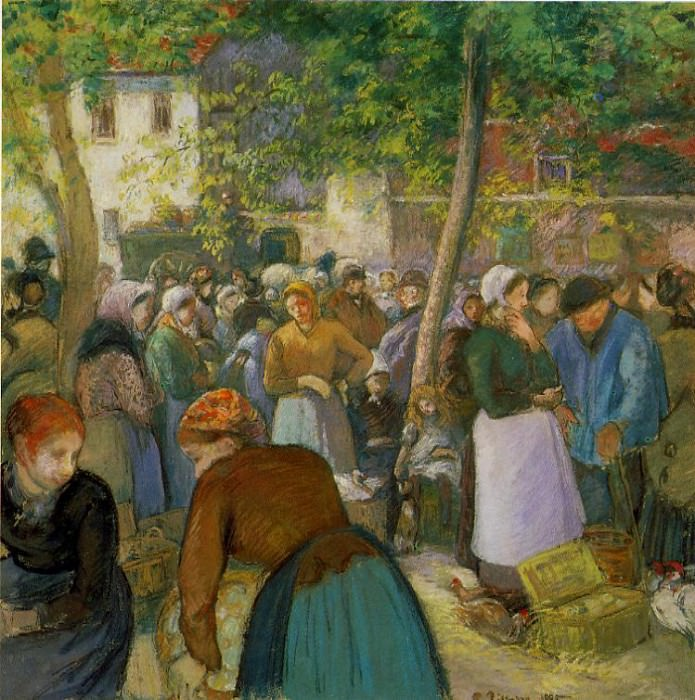 The Poultry Market. (1885). Camille Pissarro