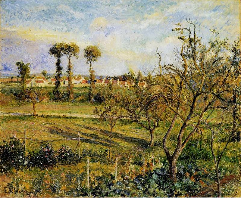Sunset at Valhermeil, near Pontoise. (1880). Camille Pissarro
