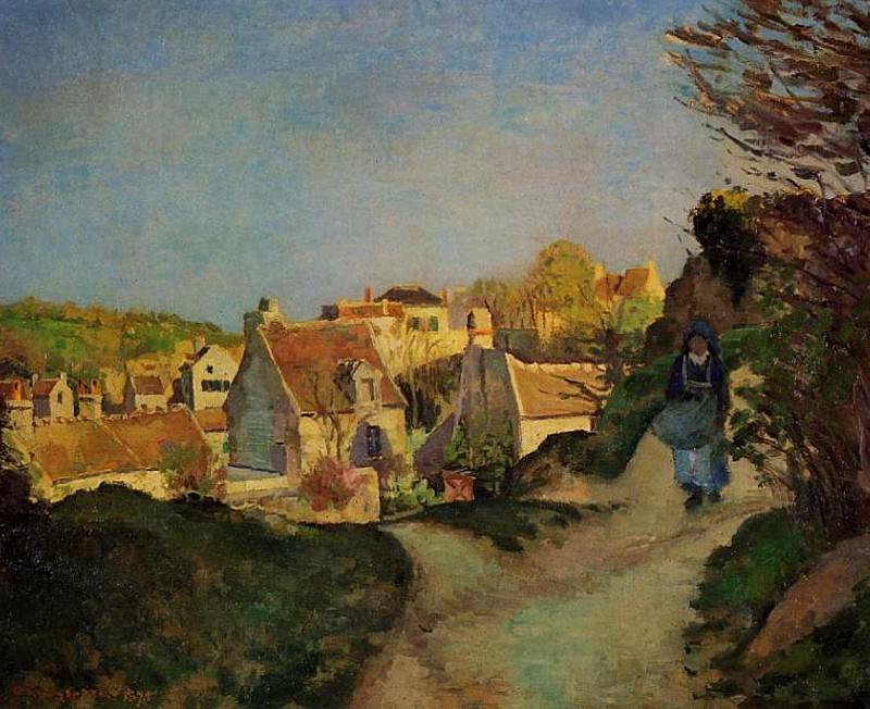 La Cote du Jallais, Pontoise. (1875). Camille Pissarro
