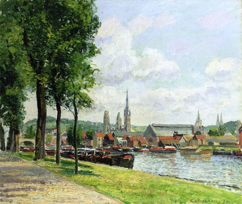 The Cours-la-Riene, The Notre-Dame Cathedral, Rouen. ( ). Camille Pissarro