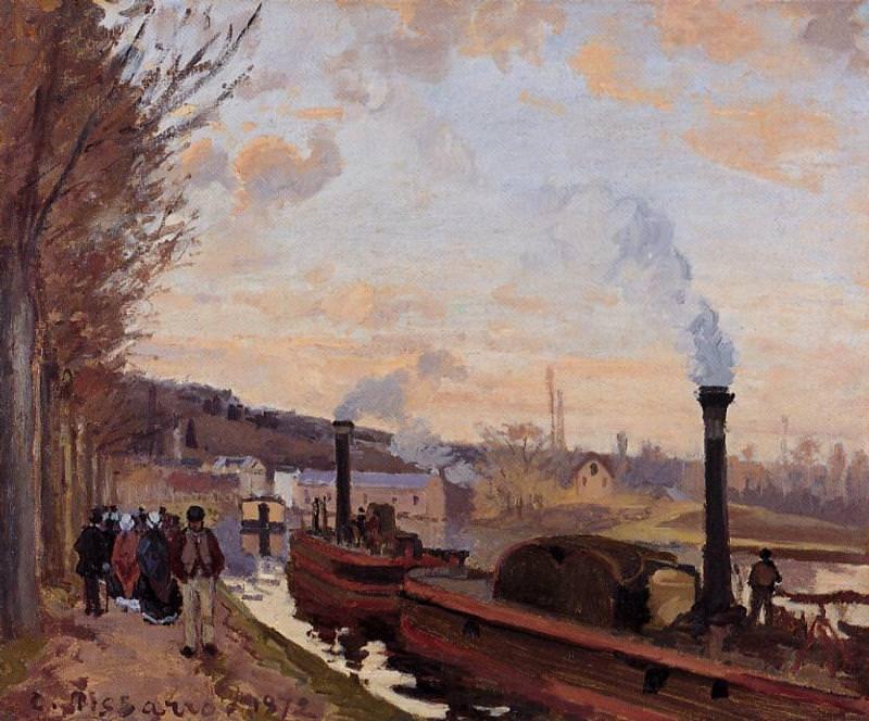 Сена у гавани Марли (1872). Камиль Писсарро