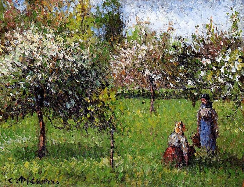 Apple Blossoms, Eragny. (1900). Camille Pissarro