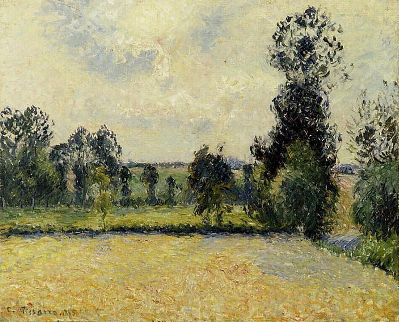 Field of Oats in Eragny. (1885). Camille Pissarro