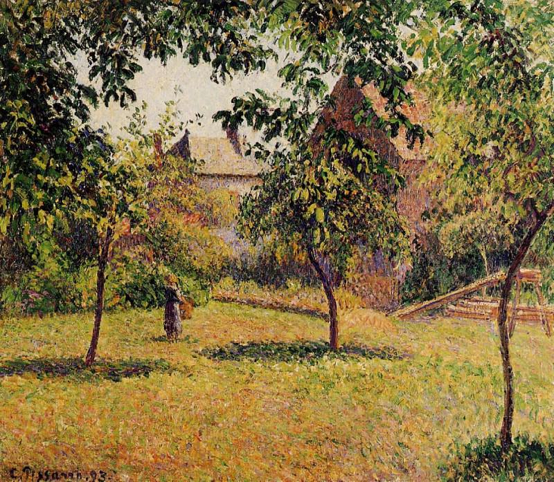 Амбар, утро, Эраньи (1893). Камиль Писсарро