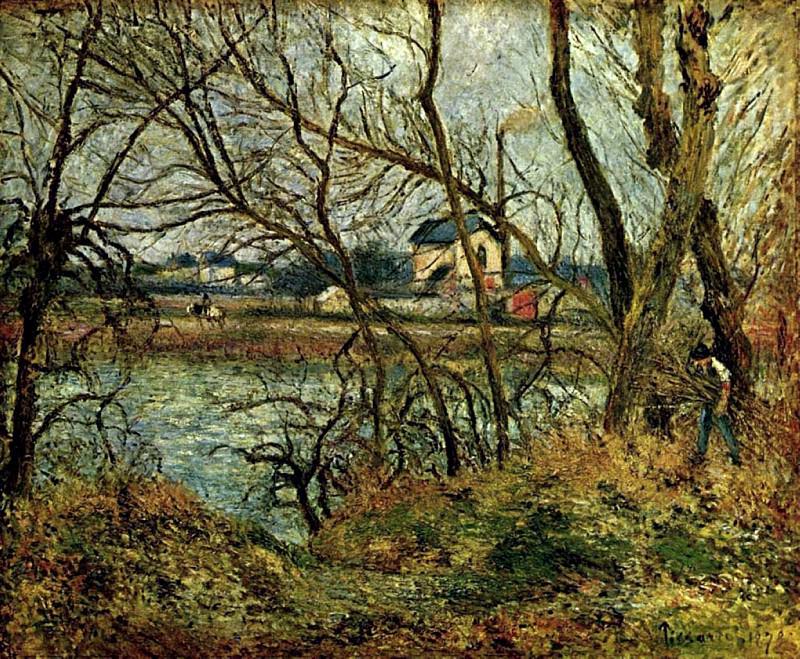 The Climbing Path, lHermitage, 1877 2. Camille Pissarro