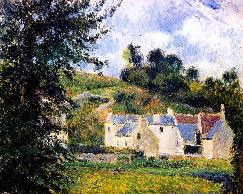Houses of lHermitage, Pontoise. (1879). Camille Pissarro