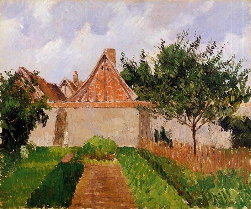 Сад в Эраньи (этюд) (1899-90). Камиль Писсарро