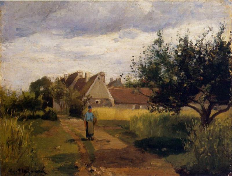 Вход в деревню (1863). Камиль Писсарро