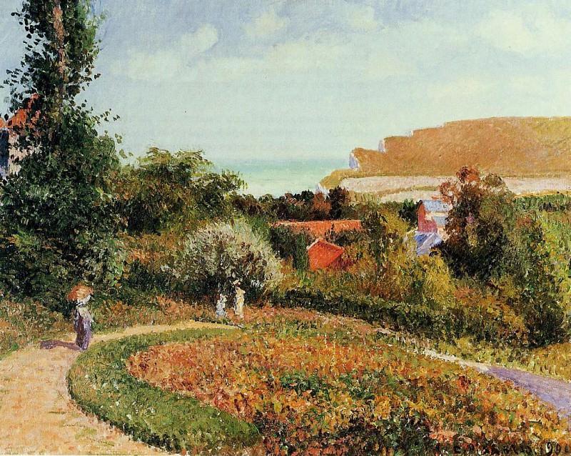 Сад отеля -Берневаль- (1900). Камиль Писсарро