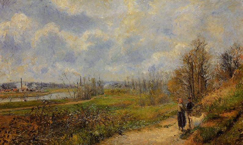 The Pathway at Le Chou, Pontoise. (1878). Camille Pissarro