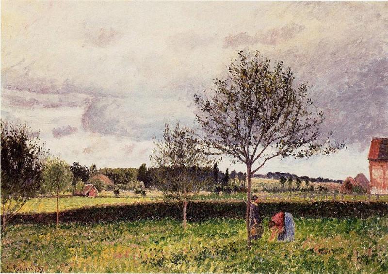 Eragny Landscape, Le Pre. (1897). Camille Pissarro