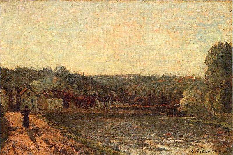 Берега Сены в Буживале (1871). Камиль Писсарро