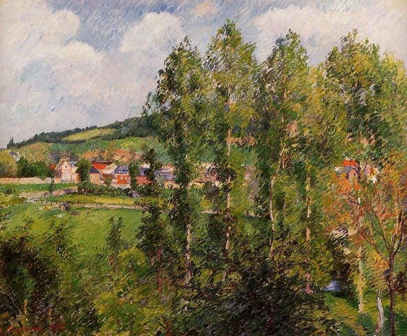 Gizors, New Section. (1885). Camille Pissarro