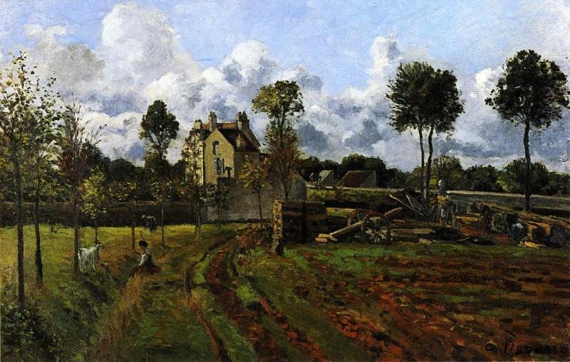 Пейзаж у Понтуаза (1873). Камиль Писсарро