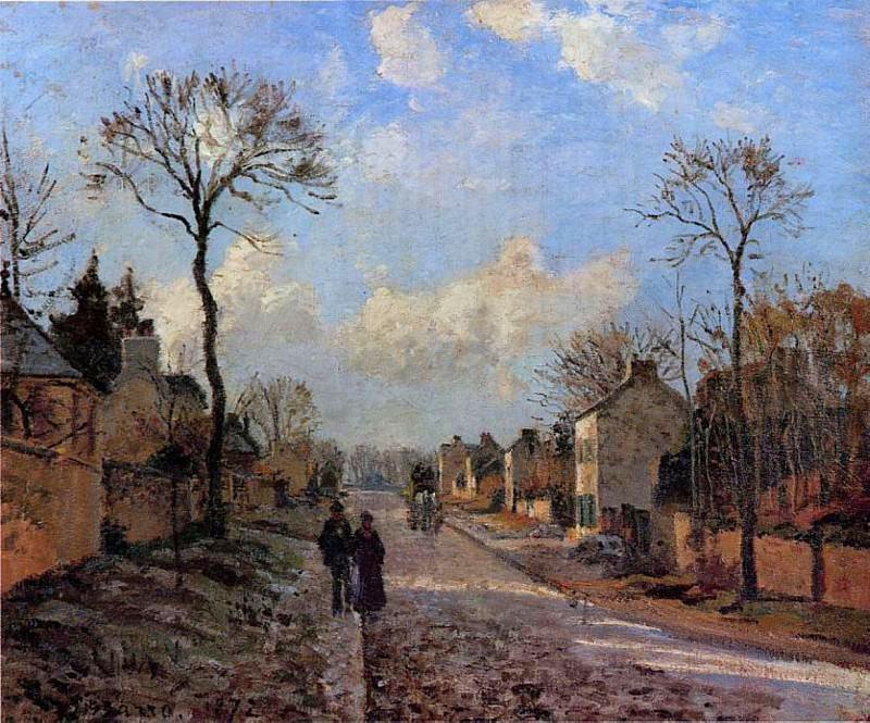 A Road in Louveciennes. (1872). Camille Pissarro