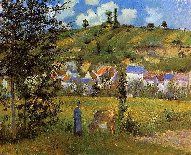Chaponval landscape. Camille Pissarro