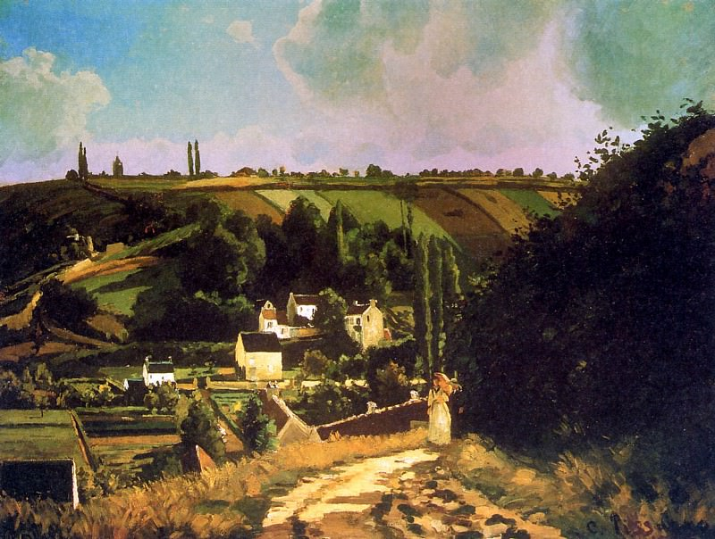 Hill of Jallais at Pontoise. Camille Pissarro