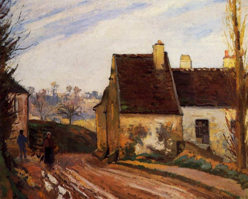 Homes near the Osny. (1872). Camille Pissarro