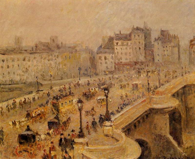 Мост Пон-Нёф, туман (1898). Камиль Писсарро