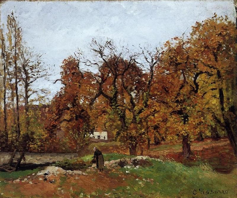 Autumn Landscape, near Pontoise. (1871-72). Camille Pissarro