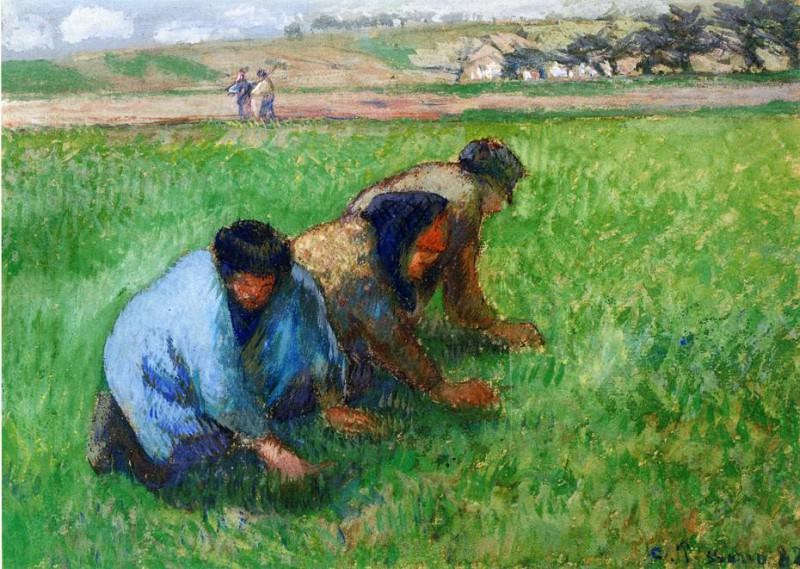 Weeders. (1882). Camille Pissarro