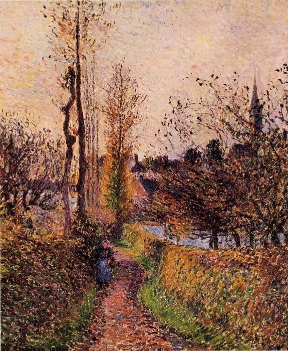 La Sentier de Basincourt. (1884). Camille Pissarro