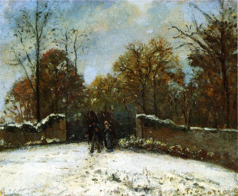 Entering the Forest of Marly (Snow Effect). 1869. Camille Pissarro