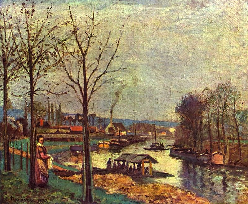 Wash-House at Bougival, 1872 2. Camille Pissarro