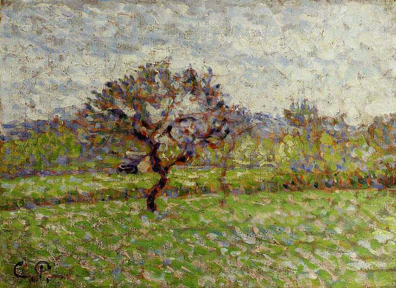 An Apple Tree at Eragny. (1887). Camille Pissarro