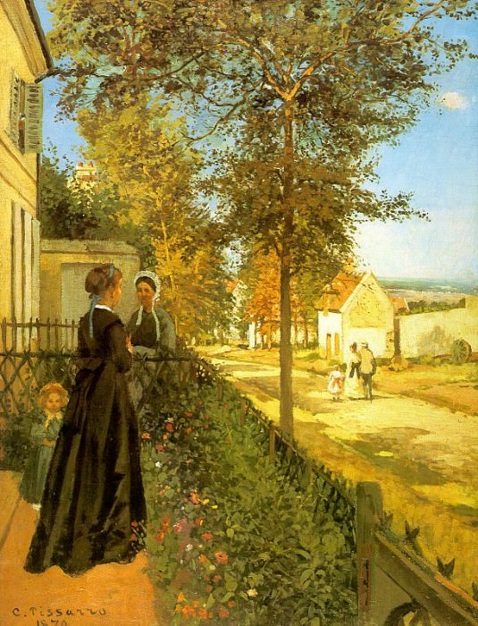 Pissarro Louveciennes- The Road to Versailles, 1870, Foundat. Camille Pissarro