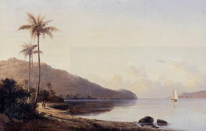 Небольшой залив на острове Сен-Тома, Антилы (1856). Камиль Писсарро