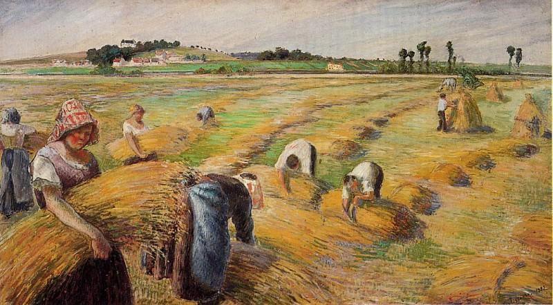 Жатва (1882). Камиль Писсарро