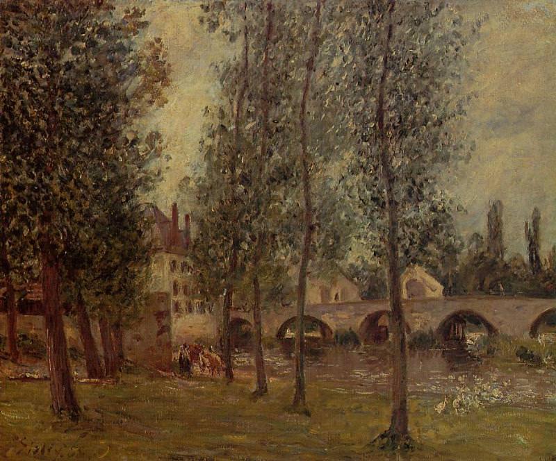 Мост в Морэ (1888). Камиль Писсарро